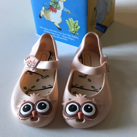 Boutique Other - NWT Mini Mini Rubber Owl Shoes sz 10 Toddler